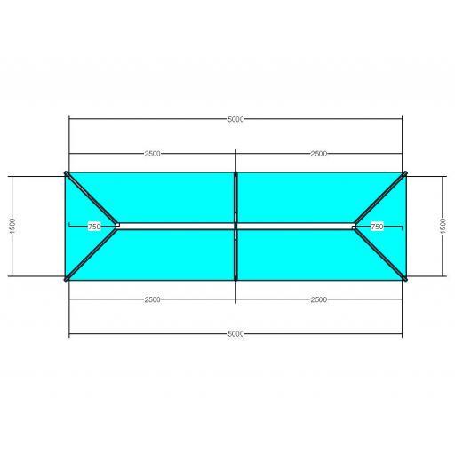 Atlas 5m x 1.5m Aluminium roof lantern