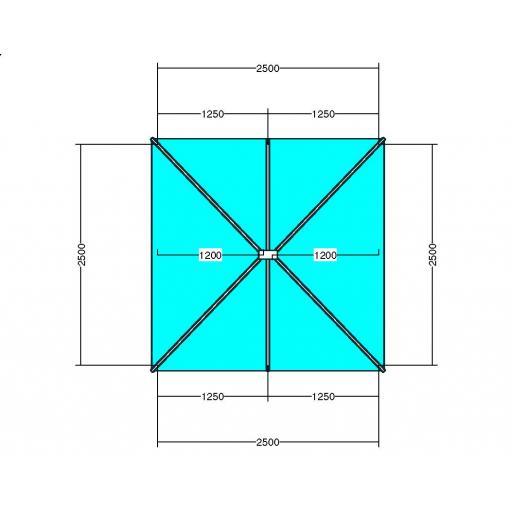 Atlas 2.5m x 2.5m Aluminium roof lantern