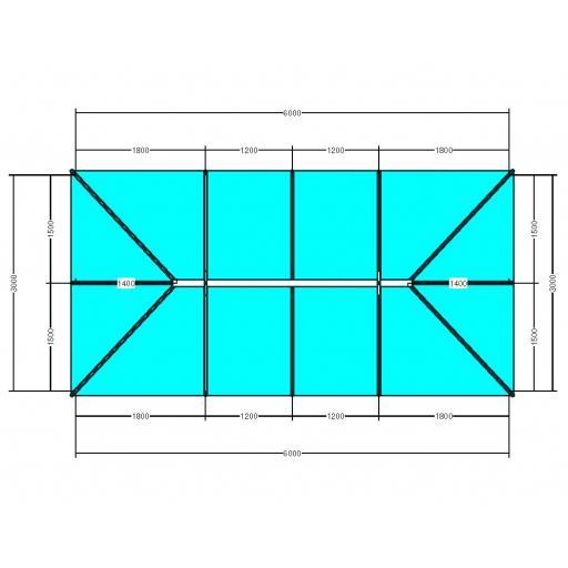 Atlas 6m x 3m Aluminium roof lantern