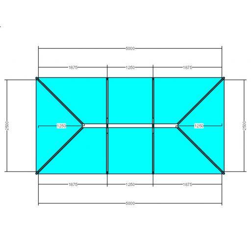 Atlas 5m x 2.5m Aluminium roof lantern