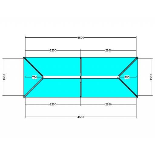 Atlas 4.5m x 1.5m Aluminium roof lantern