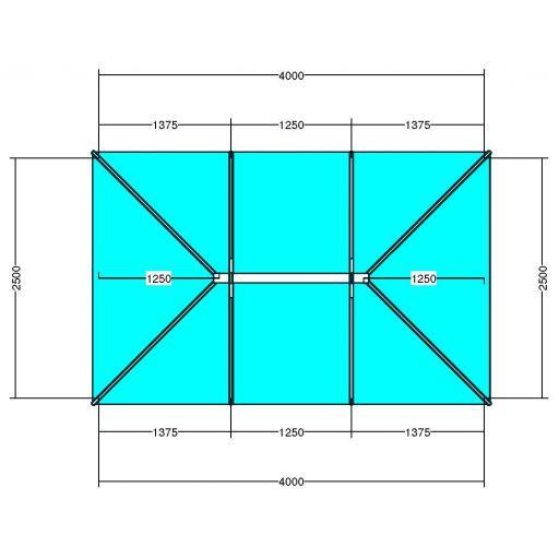 Atlas 4m x 2.5m Aluminium roof lantern