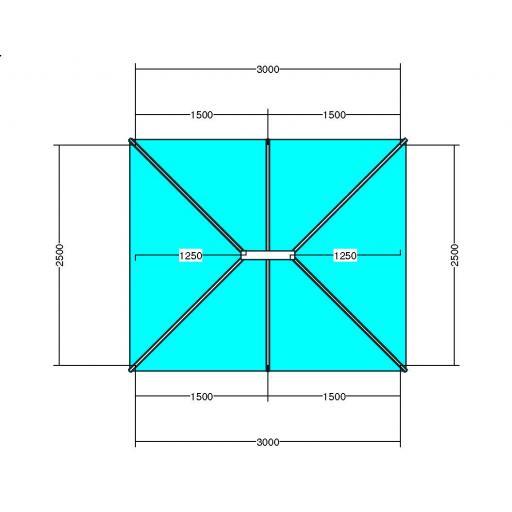 Atlas 3m x 2.5m Aluminium roof lantern
