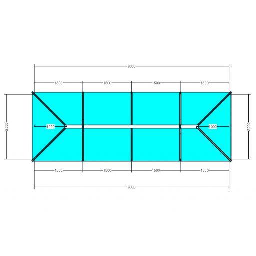 Atlas 6m x 2m Aluminium roof lantern